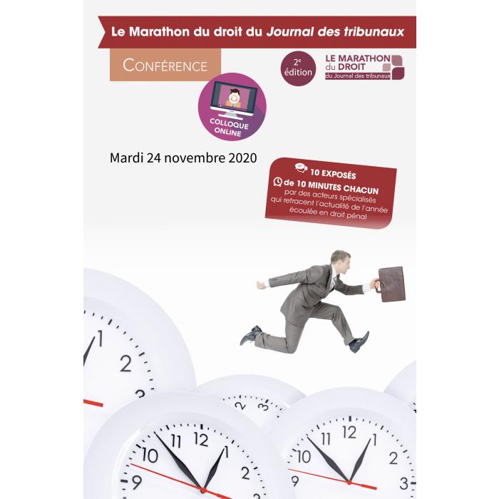 Mardi 24 novembre 2020 : Webinaire – Le Marathon du droit du Journal des tribunaux